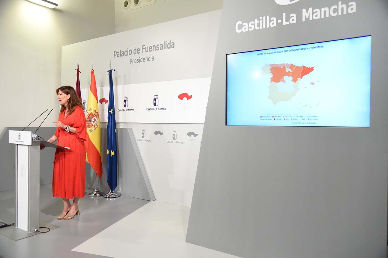 Blanca Fernández, consejera de Igualdad y portavoz del Gobierno de CLM
