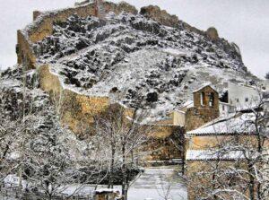 Vista nevada de Cañete. Foto: Ayuntamiento