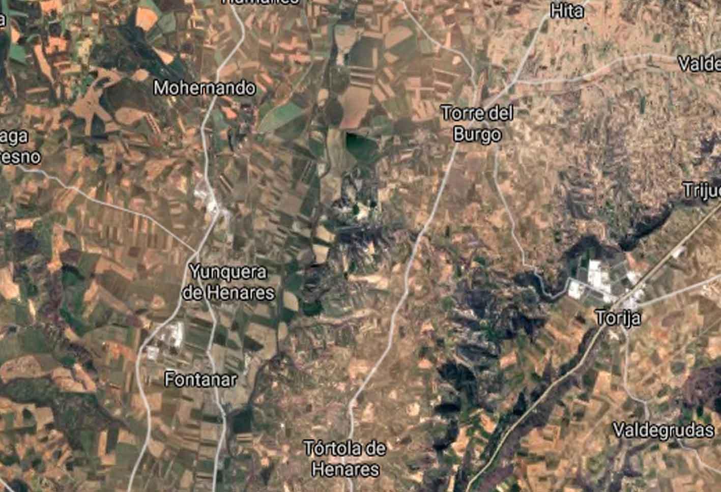 Mapa del Corredor del Henares donde ha aparecido un cadáver