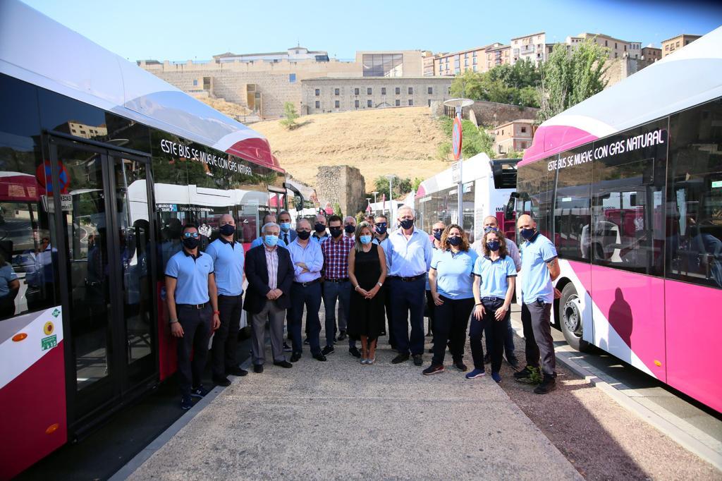 Presentación de los 10 nuevos autobuses de Toledo.