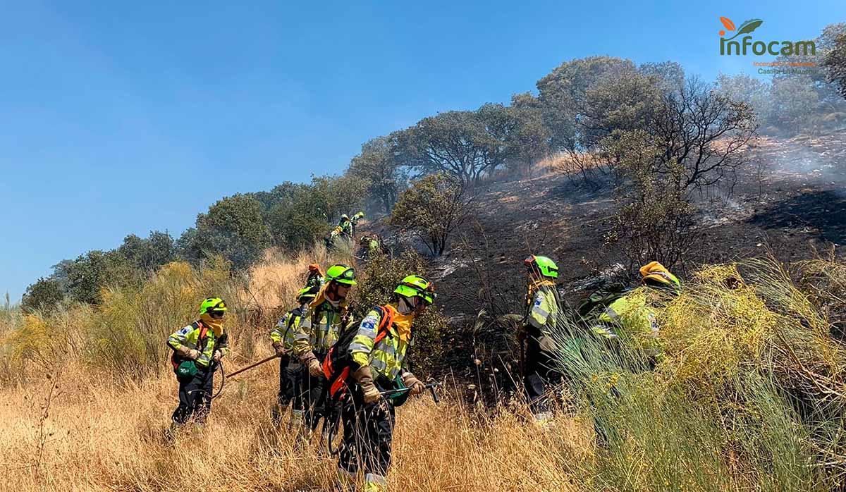 Controlado el incendio en El Casar de Escalona. Foto: Infocam