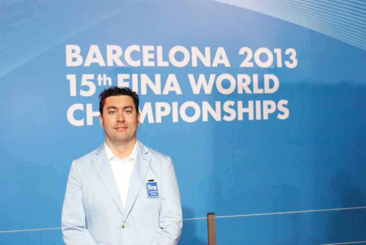 Manuel Real, árbitro internacional de natación