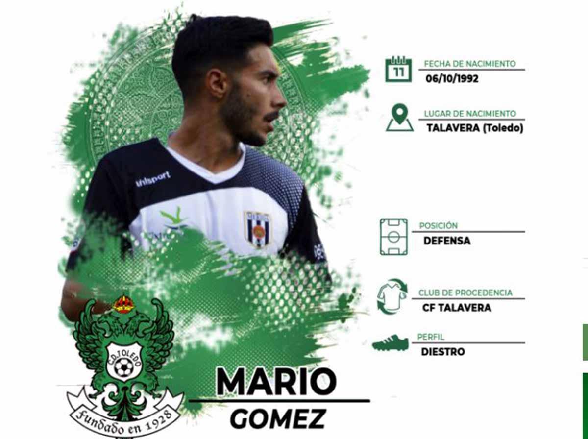Mario Gómez, nuevo jugador del Toledo