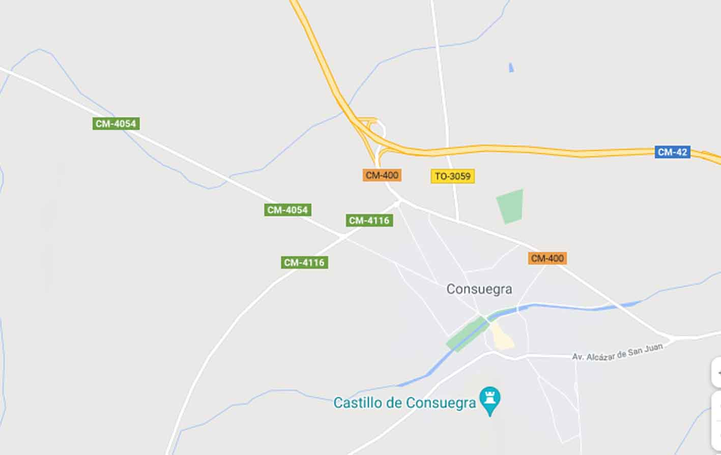 Mapa de Consuegra donde ha escapado un caballo