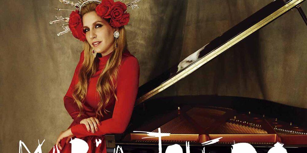 """Detalle de la portada del nuevo disco de María Toledo, """"Ranchera Flamenca"""""""