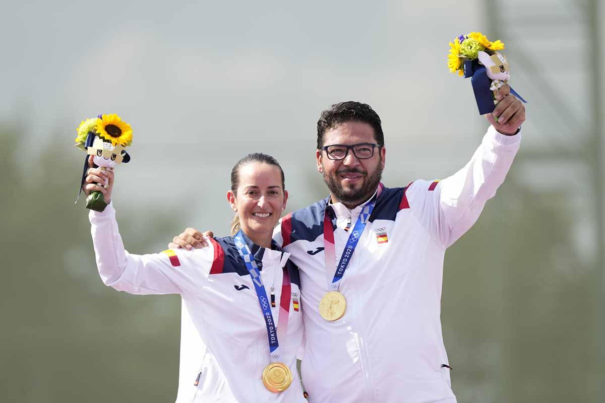 Alberto Fernández y Fátima Gálvez, oro en Tokio. Foto: @COE_es