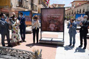 La consejera de Educación, Cultura y Deportes, Rosa Ana Rodríguez, inauguró la muestra 'Un patrimonio de todos', en Jadraque (Guadalajara)