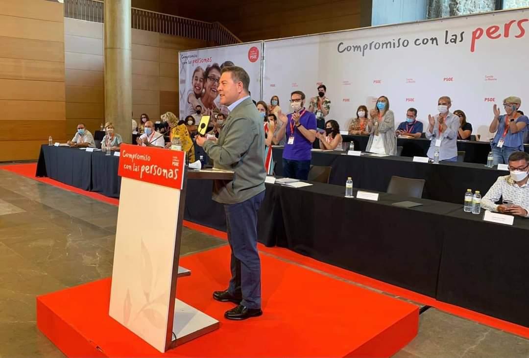 Imagen de archivo de Page en un Comité Regional del PSOE.