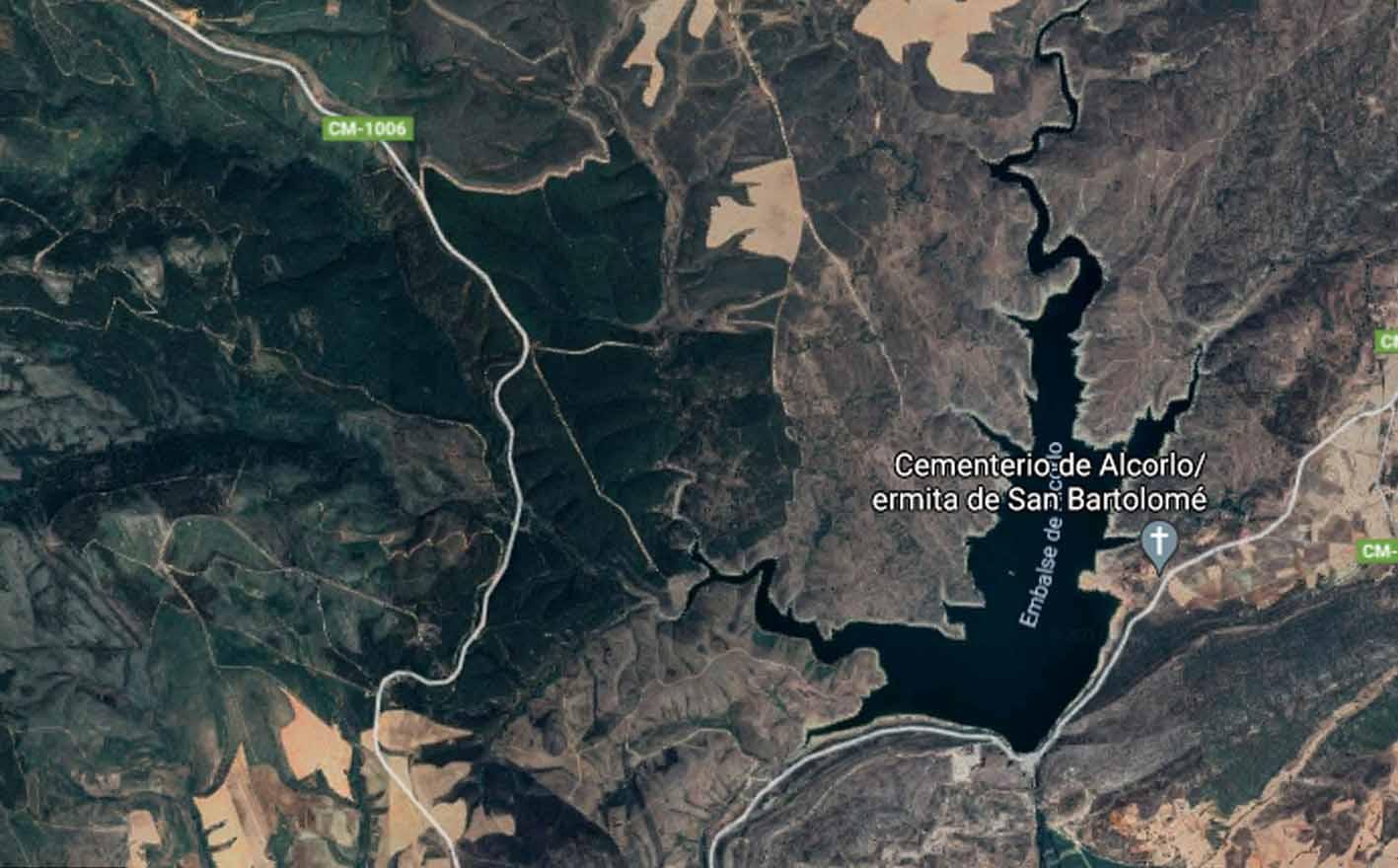 Pantano de Alcorlo, donde un padre y sus hijas han sido rescatados