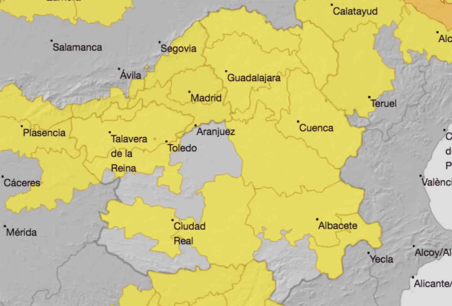 Casi toda Castilla-La Mancha está en aviso amarillo por altas temperaturas.