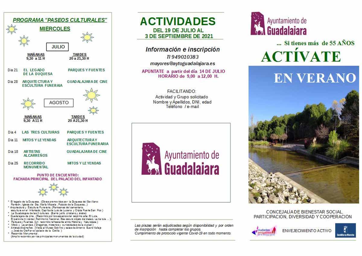 """Programa """"Actívate en verano"""" en Guadalajara"""