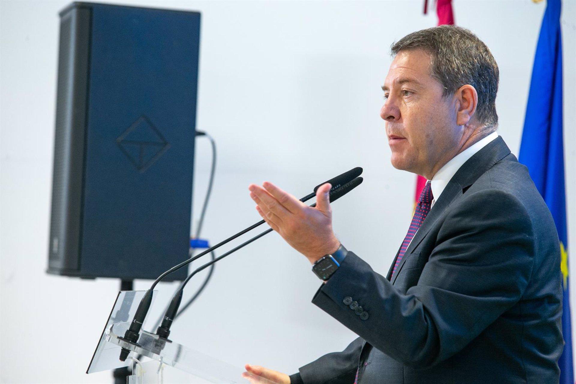El presidente de Castilla-La Mancha, Emiliano García-Page. Cabañeros, toledo