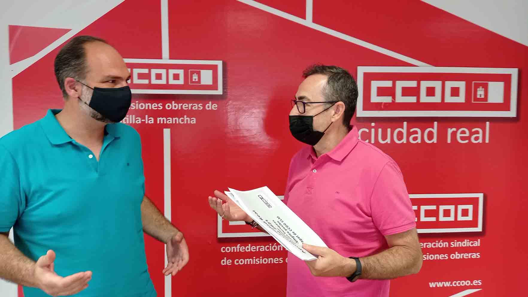 El secretario general de CCOO CLM, Paco de la Rosa, ha informado de las estimaciones de empleo de los fondos Next Generation.