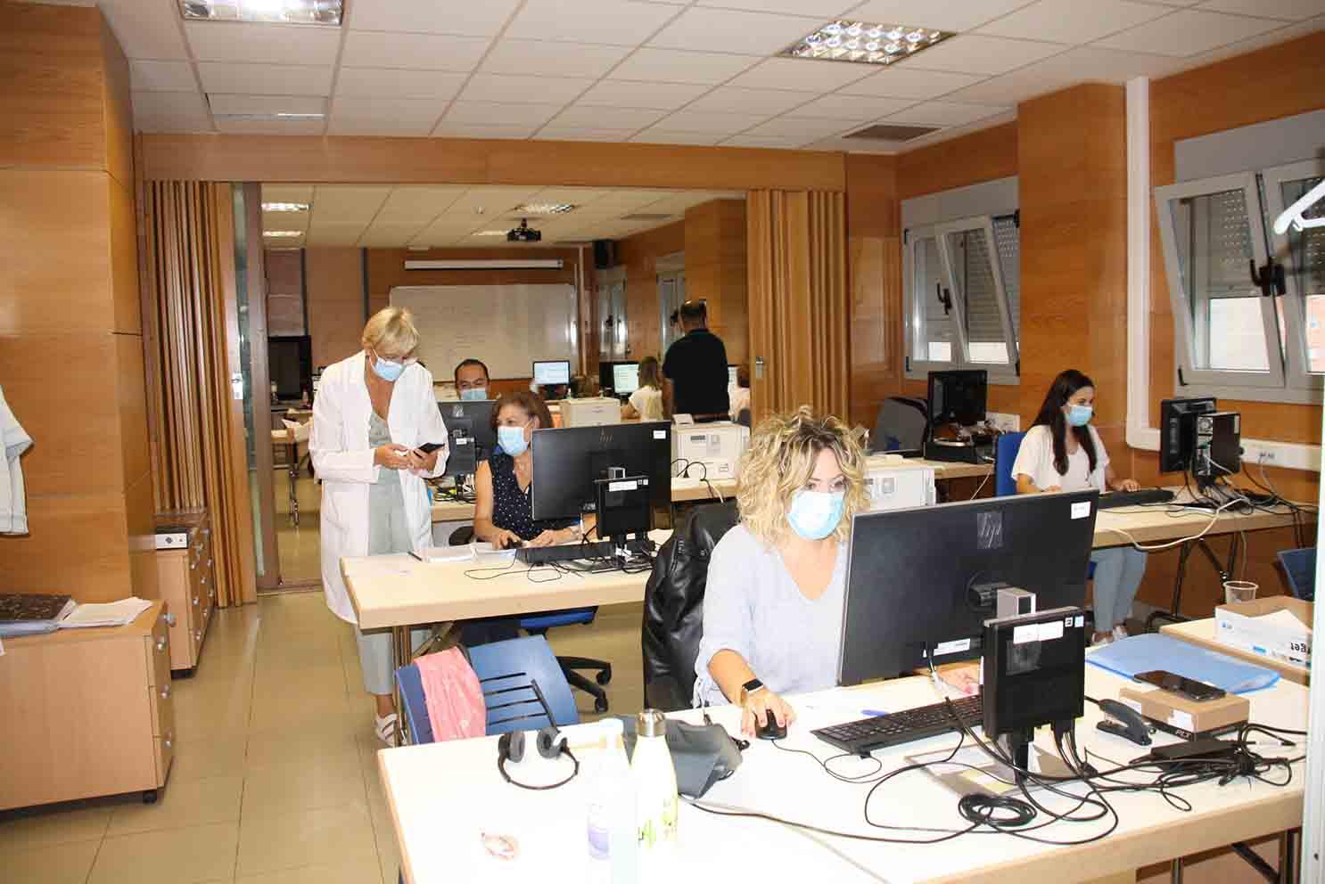 Rastreadores del Área de Salud de Cuenca.