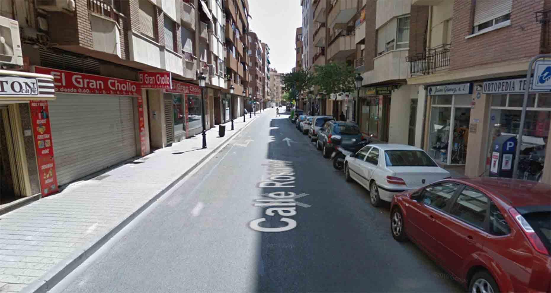 Calle Rosario, en Albacete.