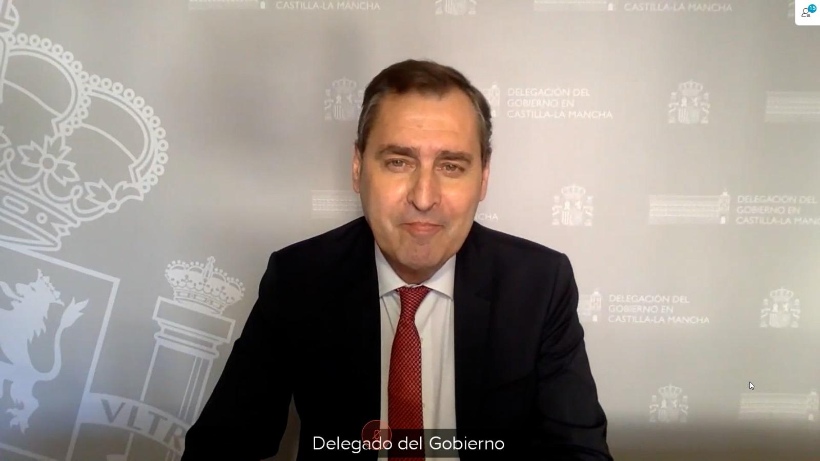 El delegado del Gobierno en Castilla-La Mancha, Francisco Tierraseca.