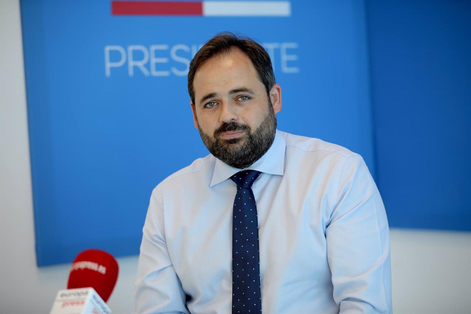 El presidente del PP de Castilla-La Mancha, Paco Núñez, en entrevista con Europa Press.