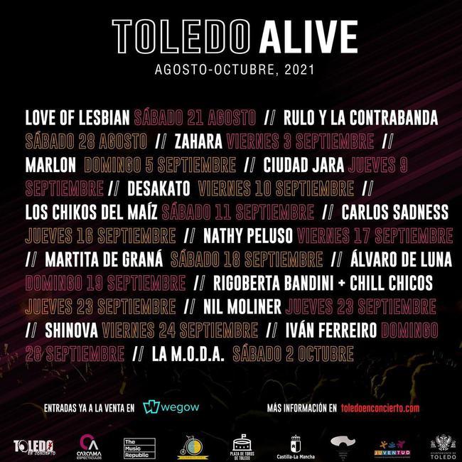 """Toda la programación de """"Toledo Alive"""""""