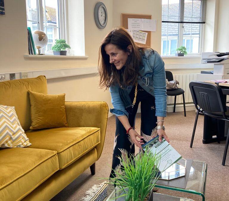 Cristina de Torres en la oficina de BBAcademy en Irlanda.