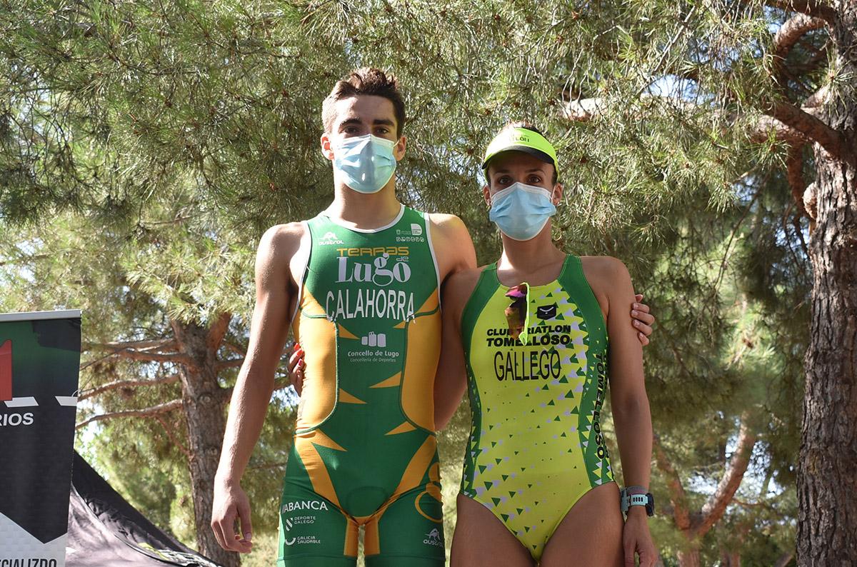 Asier Calahorra y Laura Gallego, campeones del Triatlón Urbano de Ciudad Real