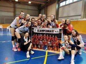 El CV Albacete, cuando se proclamó campeón regional juvenil. Foto: CV Albacete