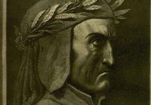 Ilustración de una de las ediciones del Dante que se ofrecen en la Biblioteca Regional