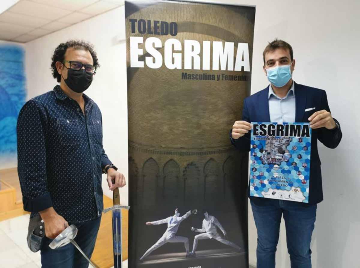 Carlos Toledo y Pablo García (a la derecha), en la presentación de la Copa de Maestros de CLM que se celebra en Toledo