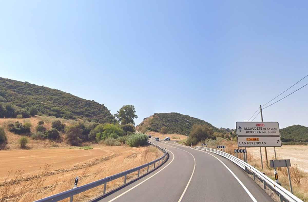 Un motorista perdió la vida en la N-502. Foto: Google Maps
