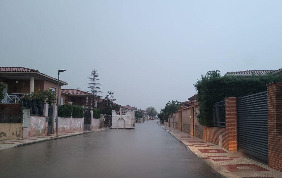 Esta era el aspecto de Cobisa (Toledo) en la mañana de hoy miércoles