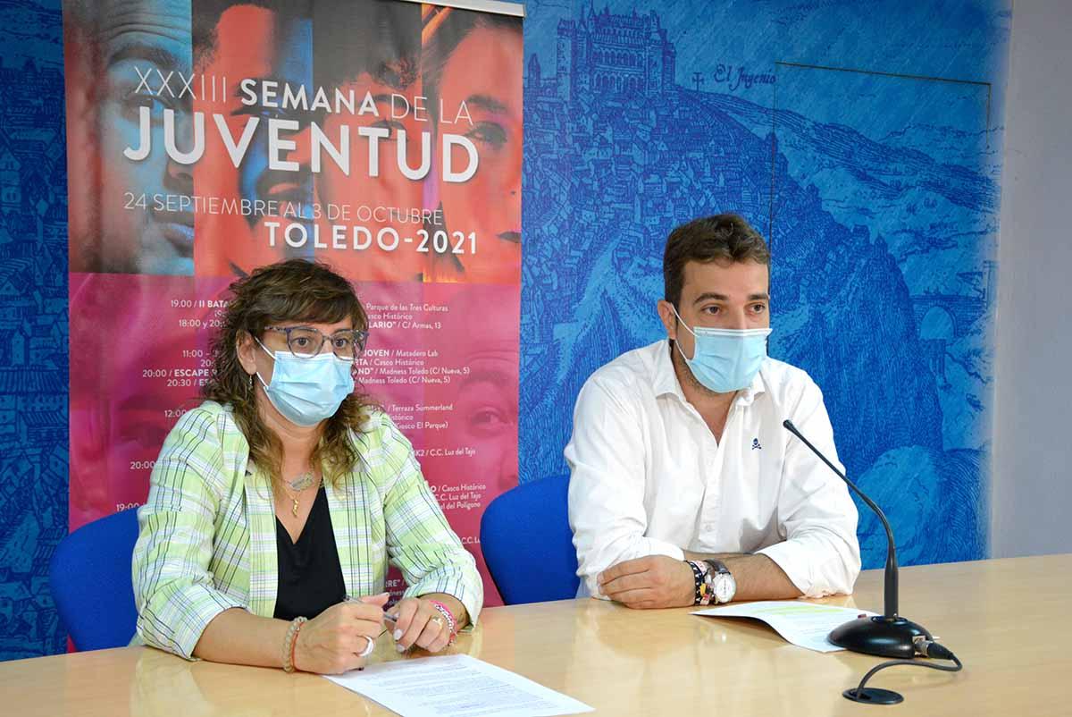 Pablo García y Ana Abellán presentaron los actos de la Semana de la Juventud de Toledo