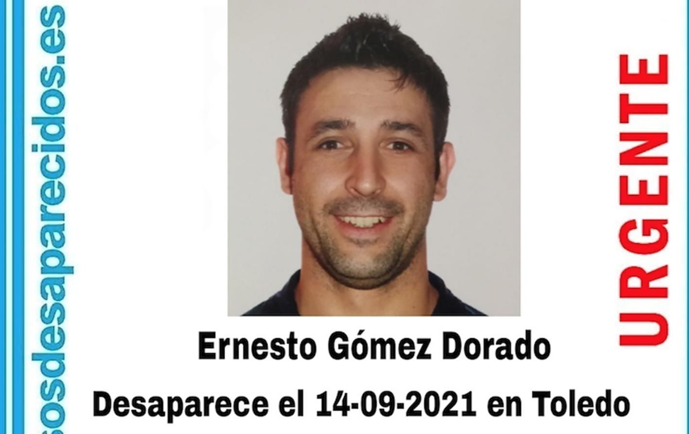 Ernesto Gómez Dorado desapareció el martes 14 en Toledo.