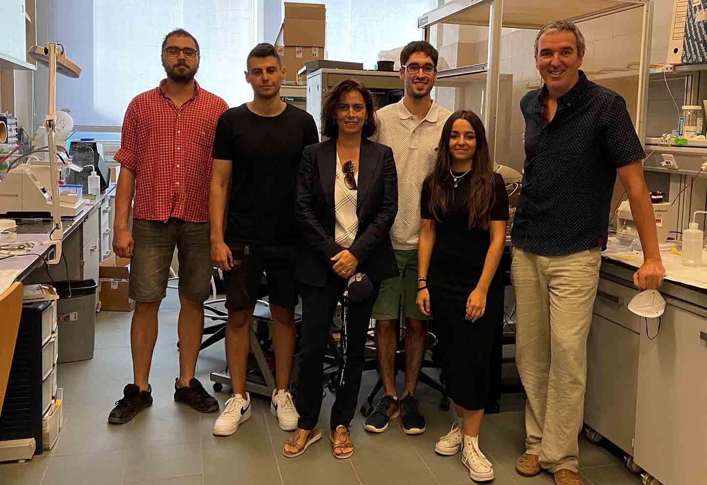 Los integrantes del equipo de investigación de la UCLM que ha logrado avances sobre el control del aprendizaje y la memoria reciente.