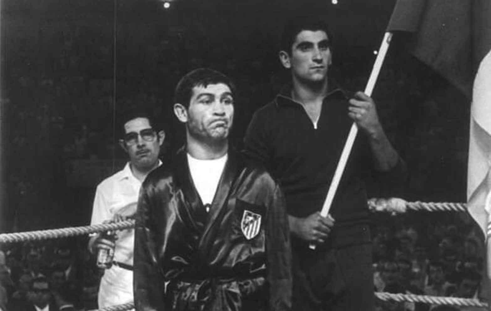 Manuel Fernández Calvo durante un combate. Foto: Federación Española de Boxeo (FEB).