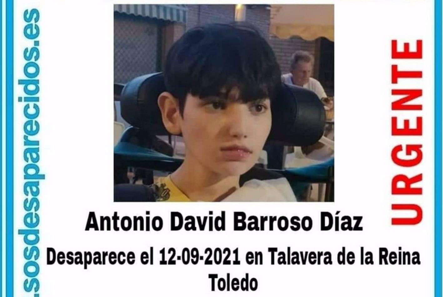 El joven desaparecido desde hace unos días.