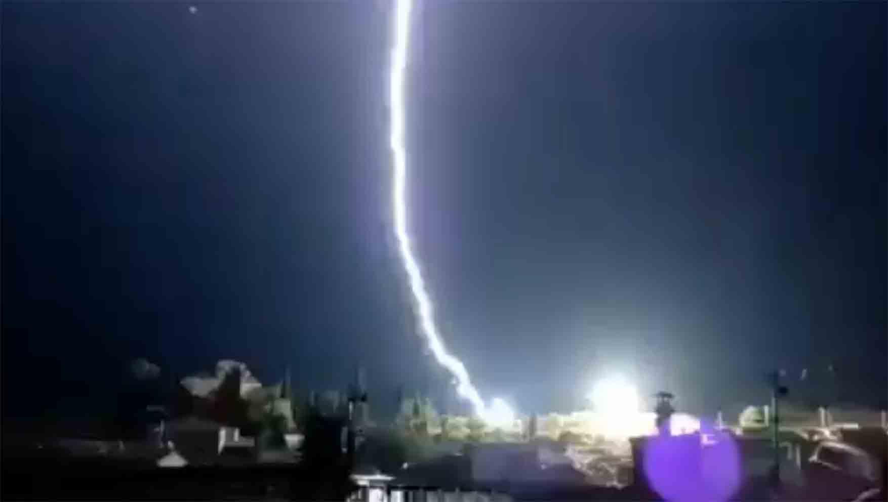 Imagen del rayo caído en Belmontejo.