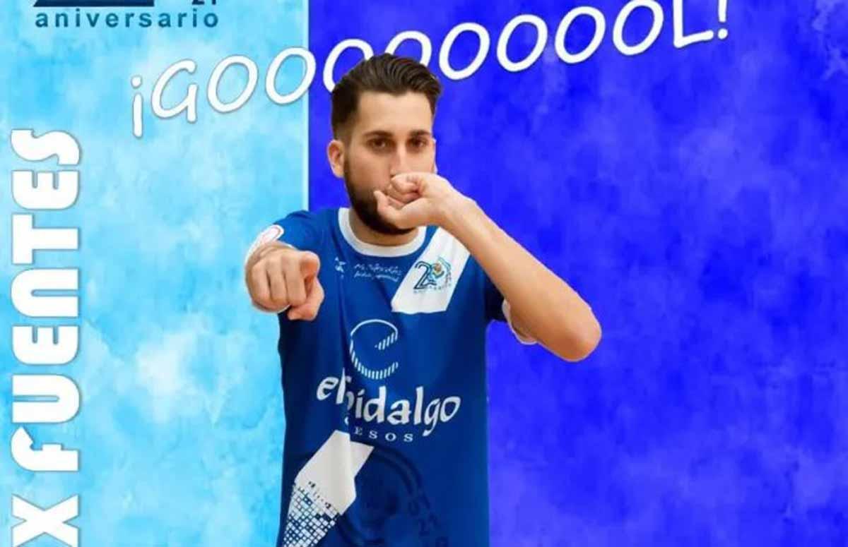 Álex Fuentes, primer goleador del Manzanares FS en Primera: Foto: Manzanares FS