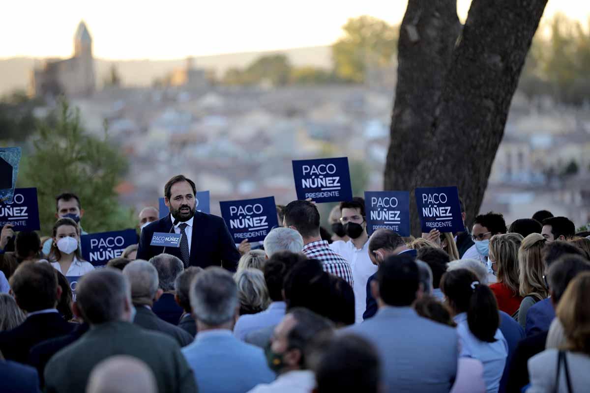 Paco Núñez, presentando su candidatura en Toledo