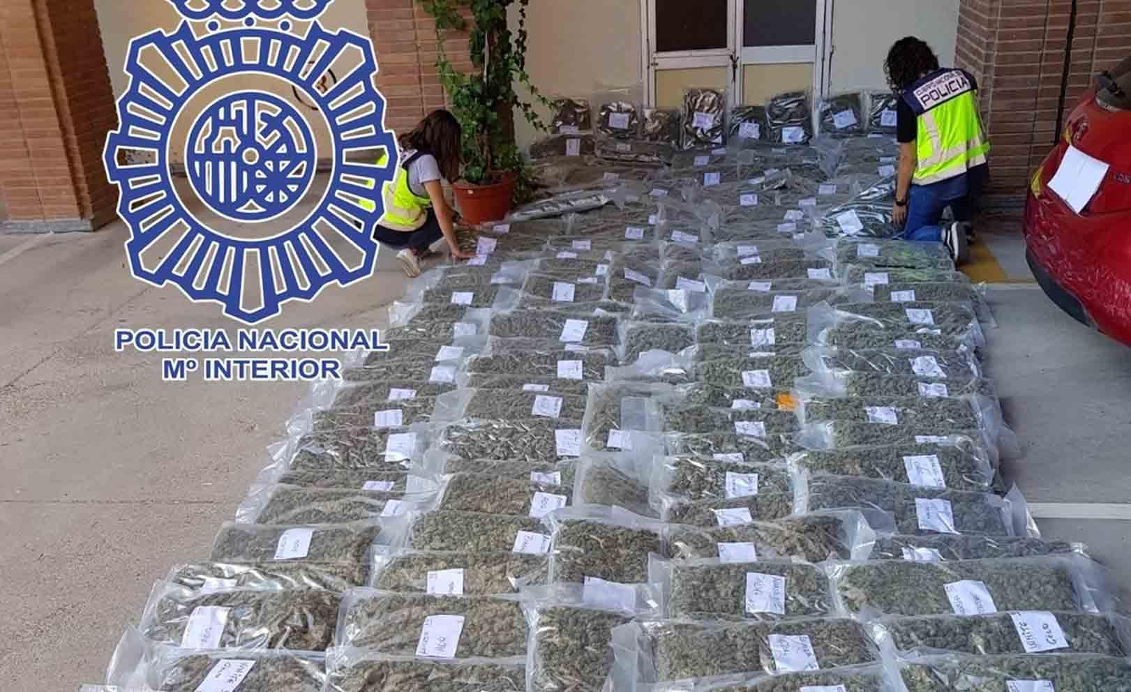 Droga incautada en Yuncos