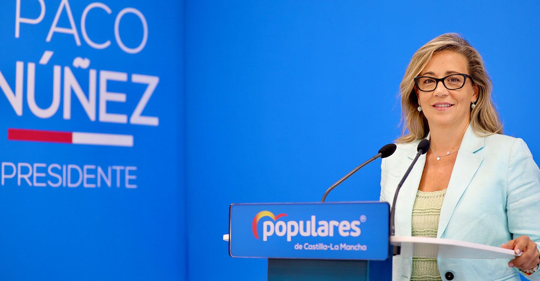 La portavoz del PP en las Cortes de Castilla-La Mancha, Lola Merino.