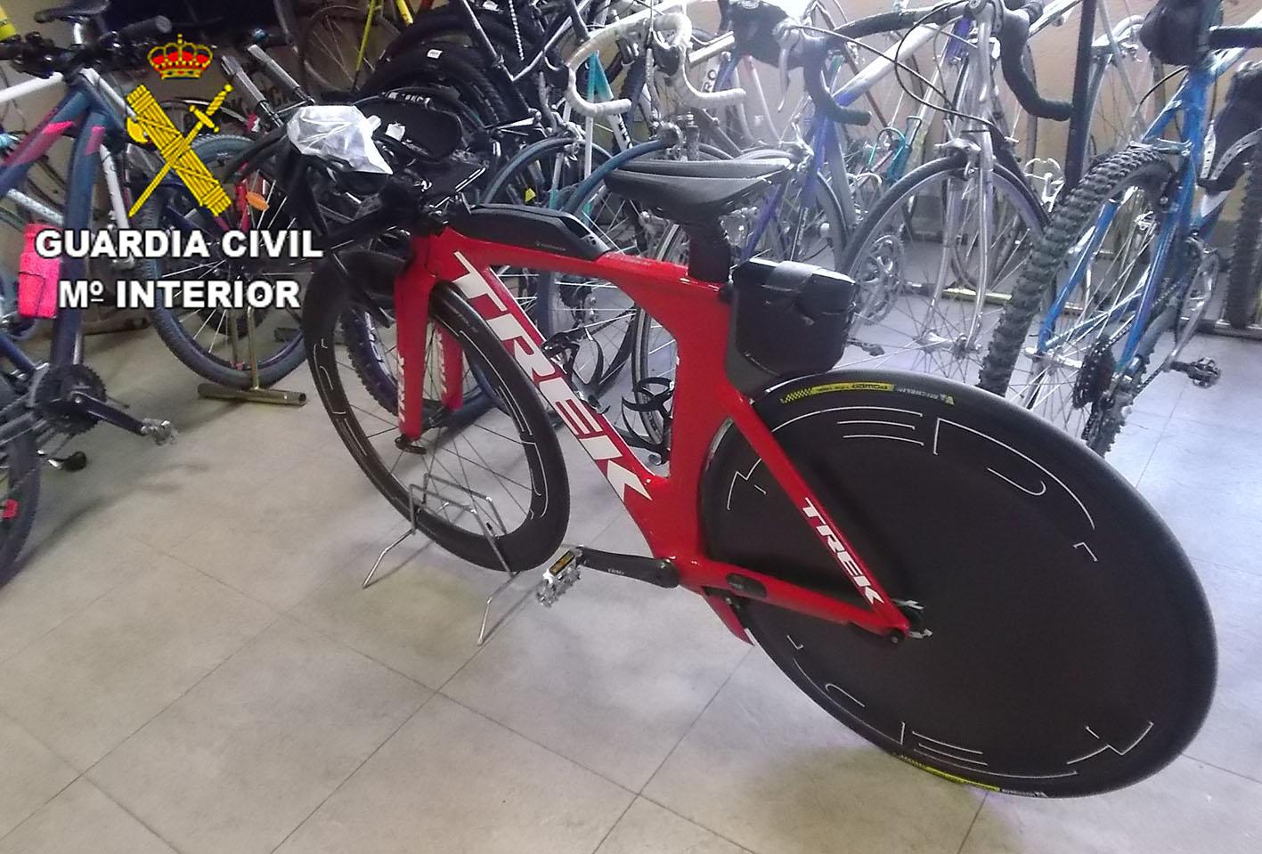 La bicicleta robada y luego recuperada en Seseña, que motivó la actuación de la Guardia Civil.